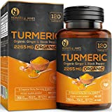 Turmeric Capsules High Strength   2265mg Serving with Black Pepper and Ginger  