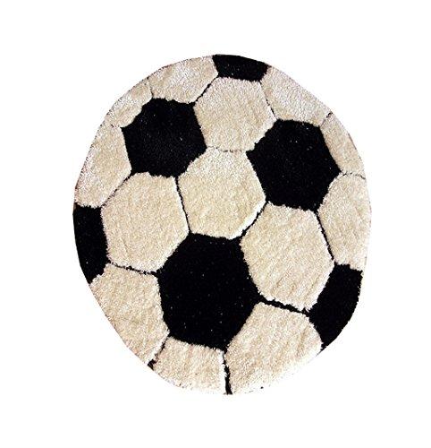 Jnyzq nordic cute cartoon tappeto per il calcio camera dei bambini camera da letto comodino tappeto soggiorno divano foyer tappeto diametro 100 cm
