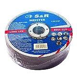 S&R Disque 125 à tronçonner Métal, Acier, Acier Inox (125 x1,0x22,23mm A60) - 25 Disques