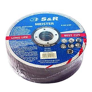 S&R 25 Discos de corte 125 Metal y Acero INOX .Set de 25 disco para amoladora 125