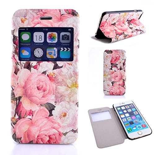 iPhone 6S Copertura,iPhone 6 Custodia, iPhone 6S case,iPhone 6 cover,Floreale flowers PU Flip di portafoglio in pelle Case per iPhone 6S /6 4.7 inch-colour colour3