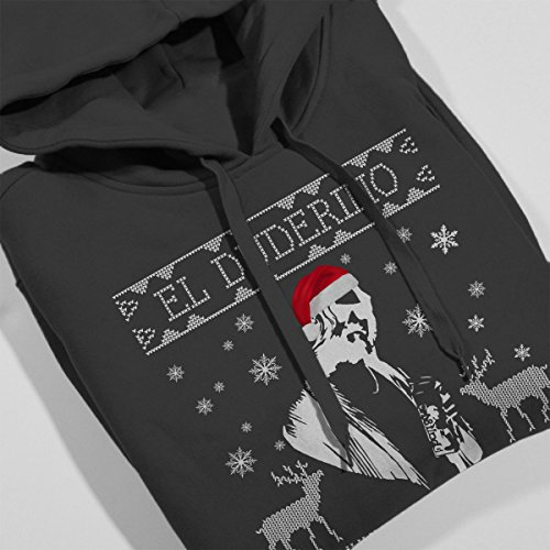 Big Lebowski El Duderino Christmas Knit Women's Hooded Sweatshirt Anthracite