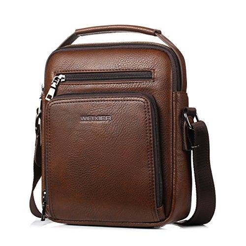 31681dab0b9a Small Leather Man Bag Mens Shoulder Bag Cross Body Messenger Bag (brown) -  Buy Online in KSA. polo videng products in Saudi Arabia.