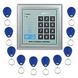 KKmoon Controllo Accessi Serratura RFID di Prossimitš€ Entrata con Porta Sistema di Controllo Accessi + 10 Portachiavi Telecomandi RFID