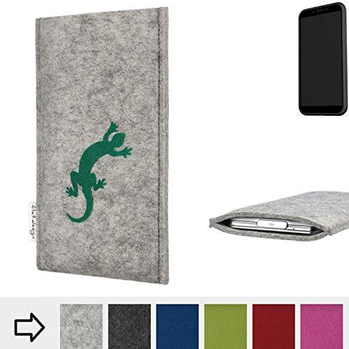 flat.design Handy Hülle FARO für Shift Shift6mq Made in Germany Handytasche Filz Tasche Case Gecko grün fair