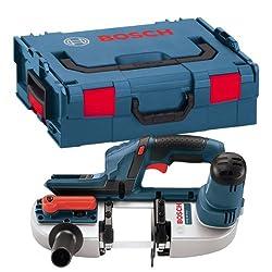 Bosch Professional GCB 18 V-LI Akku-Bandsäge, maximal Schnitttiefe 63,5 mm, 3,8kg, Solo Version, L-BOXX, 1 Stück, 06012A0301