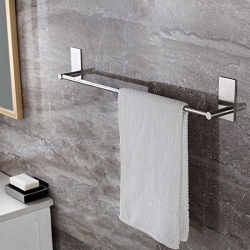 Preisvergleich Produktbild Selbstklebende Handtuchstange Handtuchhalter Ohne Bohren aus Gebürstetem Edelstahl 70cm