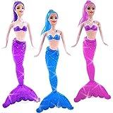 German-Trendseller ® 6 x sirène avec magique nageoire┃poupée┃ pour filles┃ petit cadeau┃ l'anniversaire d'enfant