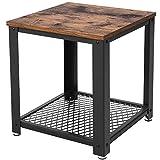 VASAGLE Table d'appoint, Table Basse avec Rangement, Armature en Métal, pour...