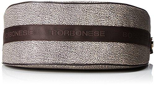 Borbonese Damen 934777296 Schultertasche, 35x38x15 cm Marrone (Op Classico/Marrone)