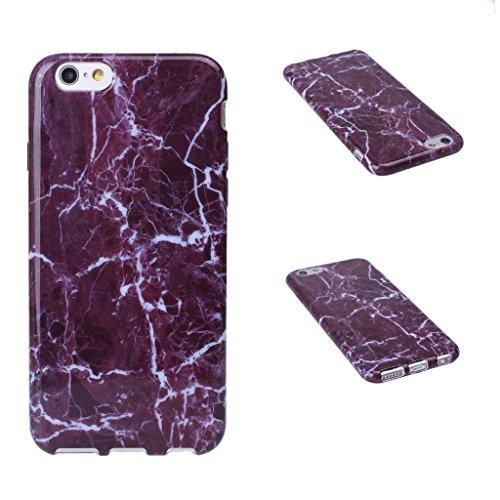 iPhone 6 Plus / 6S Plus Cover , YIGA Natural marmo bianco di pietra del reticolo Silicone Cristallo Morbido TPU Case Custodia per Apple iPhone 6 Plus / 6S Plus 5.5 A-5G-HD8