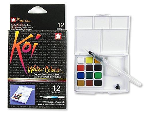 Sakura KOI Aquarelle Field Box Set mit 12 Farben -