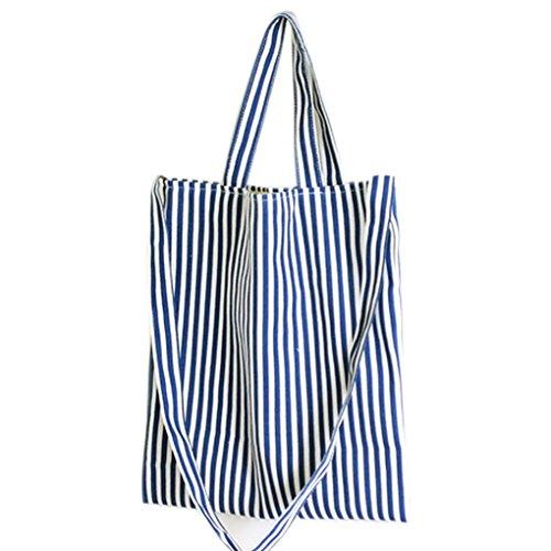 LUFA Grande capienza della tela di canapa delle donne della borsa banda del blu marino Shopping Tote femminile Borsa a tracolla