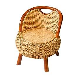 Accueil Chaise longue balcon en bois massif Siège simple personnes âgées maison Chaise rotin enfants Salon extérieur…