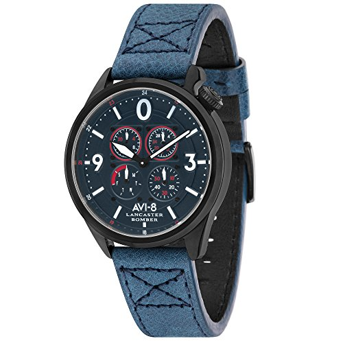 Men's Watch – AVI-8 – Lancaster Bomber – Leather – 44 mm – AV-4050-06