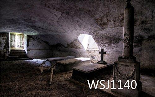 LB 210x150cm Vinyl Hintergründe | Die Särge im Keller Thema | Professionelle Studio Fotografie Hintergrund Für Paty / Bühne Dekor WSJ1140