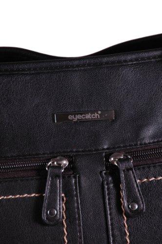 Eyecatch - Hayden Kunstleder Damen Schultertasche Handtasche Schwarz