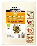 Edelmond® 100% Bio Sanddornsaft mit Fruchtfleisch 3 Liter ✓ Direkt gepresster Fruchtmuttersaft ✓ Ökologi...