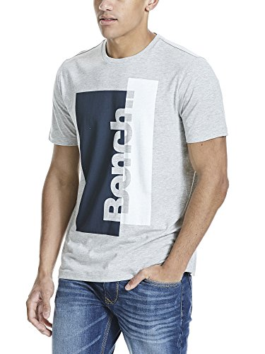 Bench Herren T-Shirt Logo Tee Grau (High Rise Marl GY003X)