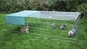 cajou freigehege f r nager kaninchen hasen welpen laufstall von oben zu ffnen 288 x 112 x 60. Black Bedroom Furniture Sets. Home Design Ideas