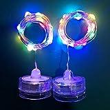 Lichterkette Außen, HUIHUI 10 LEDs Lichterkette batteriebetrieben für Party, Garten, Weihnachten, Halloween, Hochzeit, Indoor & Outdoor Decor (Mehrfarbig,One size)