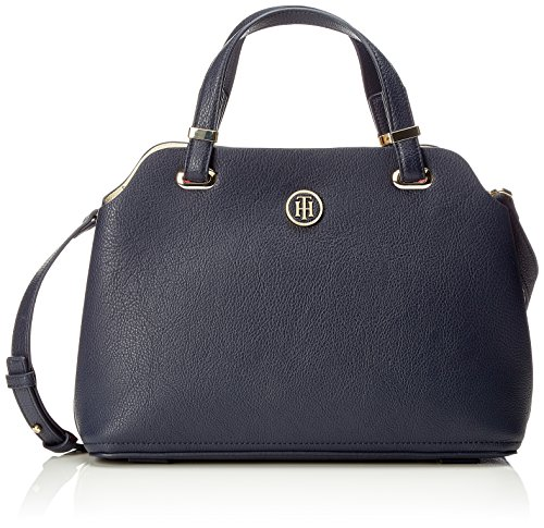 Tommy Hilfiger Damen Th Core Satchel Henkeltasche, Blau (Core Cb), 20x13x30 cm (Blaue Satchel)