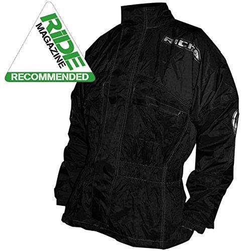 Richa Rain Warrior - Motorrad-Regenjacke - Textil - Überjacke - Schwarz - L