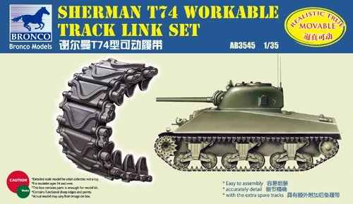 Unbekannt Bronco Models AB3545 - Modellbau Zubehör Sherman T74 Workable Track Link Set Preisvergleich