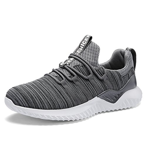 Ubfen uomo scarpe da sportive corsa running ginnastica sport e tempo libero sportive sneakers casual all'aperto respirabile inverno eu 46 h grigio