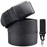 Cinturón Nylon Hombre Militar Táctico Policia Negro Unisex Cinturónes Llaveros...