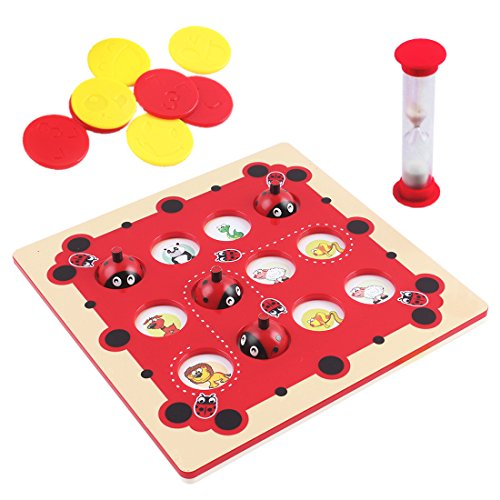 deAO Memory Game Toddler Board Game Set � Cute Ladybird Design With 96 Pictures In Total