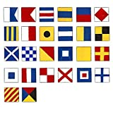 Bandiere marine segnalazione–Set di 26bandierine–28bandiere totale–nautica/marittima/marine/barca/barca/nave/nautica Décor
