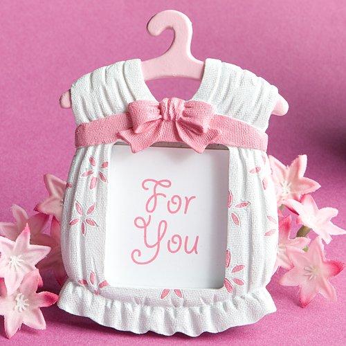 Fashioncraft cornice portafoto, bomboniera forma abitino rosa.