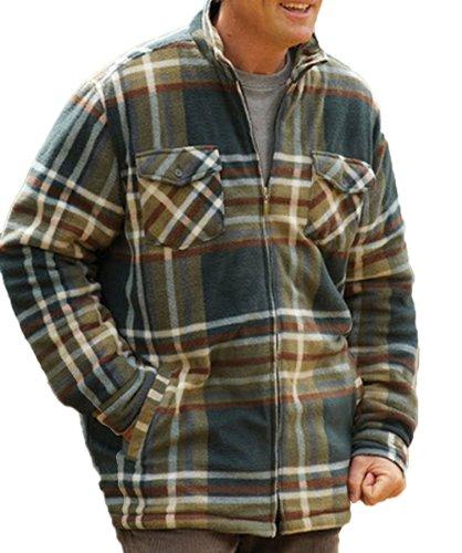Champion-Stirling Pays Estate Clothing Manteau d'hiver avec doublure en polaire 3729 Vert - Vert olive