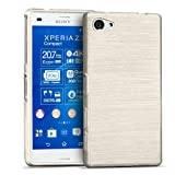 CoolGadget Sony Xperia Z3 Compact Hülle, Ultra Thin Brushed Cover Schlank Weich Flexibel Anti-Kratzer Schutzhülle Abdeckung Case, Silikon Cover für Xperia Z3 Compact - Weiss