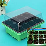 #10: Sellify 2016 Useful Durable 12 Cells Hole Plant Seeds Grow Box Tray Insert Case plastic Plant Seeds Grow Box 7. 48*5. 9*4. 33 inch