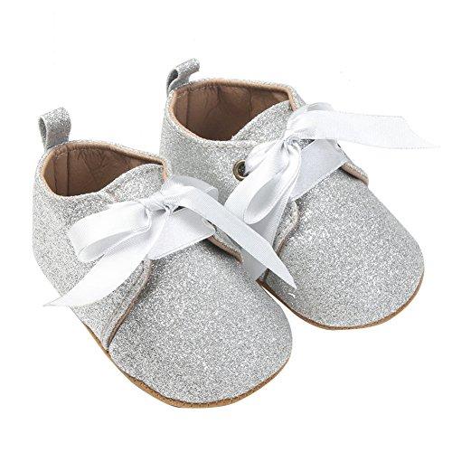 Nicholco , Baby Mädchen Lauflernschuhe silber silber 12-18 Monate silber