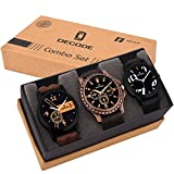 Decode Combo of 3 Fashionable Analogue Multicolor Dial Mens and Boys Watches-Combo of 3 Fashionable Watches