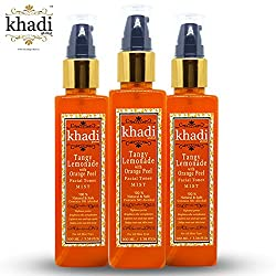 Khadi Global Tangy Lemonade With Orange Peel MIST Facial Toner 100% Natural & Safe Contains No Alcohal Pack Of 3 (Total 300 ml)