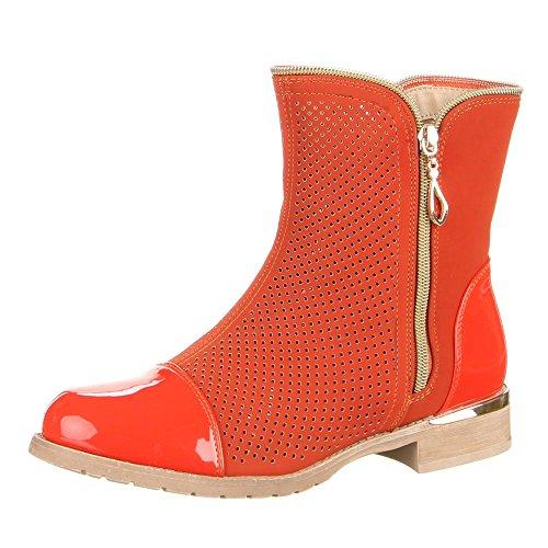 Ital-Design - Pantofole a Stivaletto Donna Arancione (arancione)