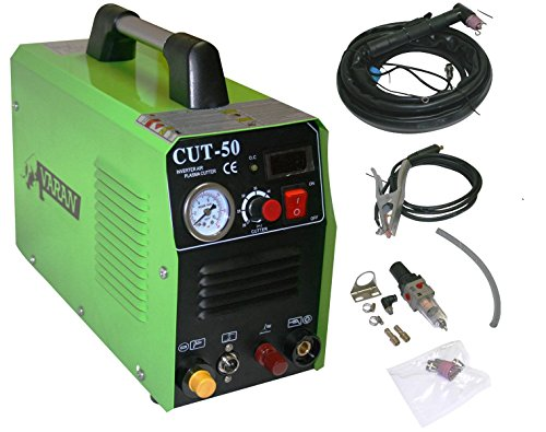 Varan Motors var-cut50PILOT Tragbares Plasma Schneidegerät Varan CUT-50 Inverter, Manometer, ARC PILOT Funktion (Pilot Motor)