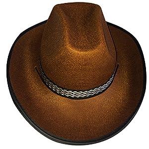 Dress Up America Sombrero marrón Vaquero Adulto