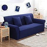 Beddingleer-Jacquard-Knited-Bleu-saphir-haute-lasticit-paissir-Tissu-Canap-Slipcover-Canap-Housse-de-protection-deux-pour-deux