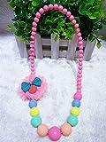 Mode Kleines Mädchen Beded Halskette mit Blumen Schmuck Sammlungen Charm Perlen Halskette Party Zubehör Rose Red