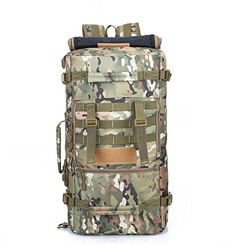 Spalla esterna zaino alpinismo camouflage borsa grande capacità zaino zaino spalla 56*30*19cm, Army green 50L Jungle Camouflage 50L