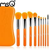 Dragonpad-9-Pcs-Orange-Synthetic-Hair-Professional-Makeup-Brush-Set-With-Leather-Case-Bag-For-Wholesale-Beauty