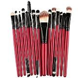 CYD Cyond 15 PCs/Sets Eye Shadow Foundation Augenbrauen Lippen Pinsel Makeup Pinsel Werkzeug (Schwarz)