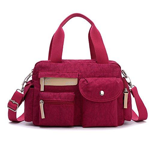 Ladies singola borsa a tracolla,portatile/singola spalla /messenger bag,borsa di tela-Rosso Rosso