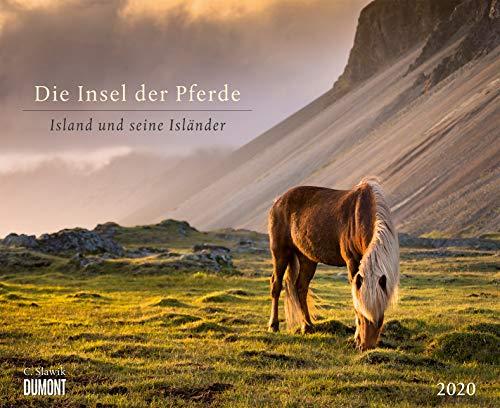 Die Insel der Pferde: Island und seine Isländer 2020 - Pferde-Kalender im Querformat 52 x 42,5 cm