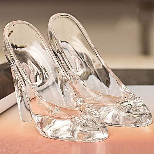 BJYG Cinderella 's Crystal Shoes Dekoration 18-jährige Frau Erwachsenen Geburtstagsgeschenk Valentinstag, um Freundin hochhackige Glasschuhe Ornamente zu senden